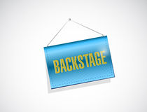 Backstage hanging sign illustration design Royalty Free Stock Photos