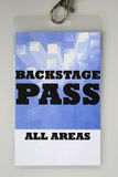 Backstage Pass Royalty Free Stock Photos