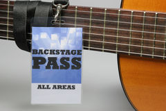 Backstage Pass Royalty Free Stock Image
