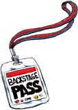 Backstage Pass Royalty Free Stock Photography
