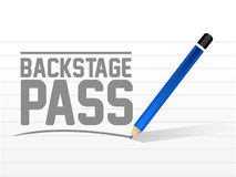 Backstage pass message sign illustration design Royalty Free Stock Photo