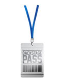 Backstage pass tag illustration design Royalty Free Stock Images