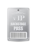 Backstage pass vip Stock Photography