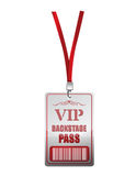 Backstage pass vip illustration design. Over a white background Stock Image