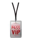 Backstage passi il VIP Immagini Stock