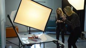 Backstage photography creative teamwork ideas stock video footage