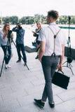 Backstage photography photoshoot hobby lifestyle Stock Photography