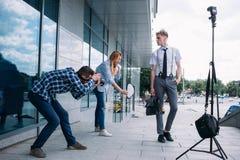 Backstage photography photoshoot hobby lifestyle Royalty Free Stock Images