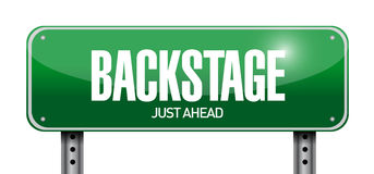 Backstage road sign illustration design Royalty Free Stock Image