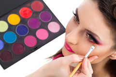 Backstage scene: Professional Make-up Stock Image