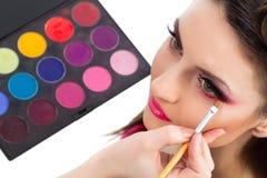 Backstage scene: Professional Make-up Stock Image