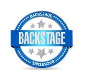 Backstage seal illustration design Royalty Free Stock Images