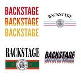 Backstage slogan modern Fashion Slogan for T-shirt graphic vector Print. Set illustration design tee girl text apparel beautiful card drawing feminine grunge stock illustration
