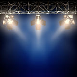 Backstage spotlights. Royalty Free Stock Images