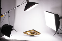 Backstage from studio shooting Stock Photos