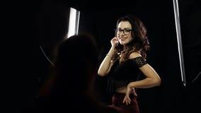 Backstage of studio shooting stock video