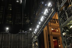 Backstage of Vienna Opera house Stock Images