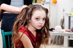 Backstage of young model Royalty Free Stock Photos