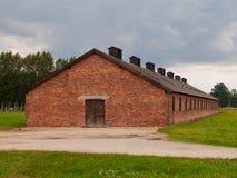 Backsteinbau in Birkenau-Konzentrationslager Lizenzfreies Stockfoto
