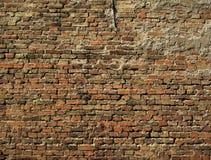 Backsteinmauer 2 Stockfotografie