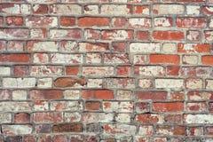 Backsteinmauer, alte Beschaffenheit von roten Steinblöcken Hintergrund Stockbilder