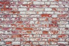 Backsteinmauer, alte Beschaffenheit von roten Steinblöcken Hintergrund Stockbild