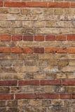 Backsteinmauer, Beschaffenheit, Hintergrund. Lizenzfreie Stockfotografie