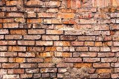 Alte Backsteinmauer des Schmutzes Stockfotos