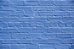 Backsteinmauer blau gemalt in Warrenton Virginia, lizenzfreie stockfotografie