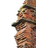 Backsteinmauer bleibt Stockbild