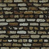 Backsteinmauer, braune Entlastungsbeschaffenheit mit Schatten Stockfotografie