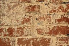 Backsteinmauer des Hintergrundes des roten Backsteins Lizenzfreies Stockfoto