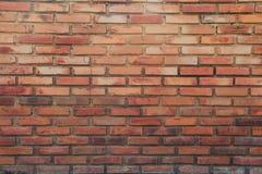 Backsteinmauer des rote Farbbeschaffenheitshintergrundes lizenzfreies stockfoto