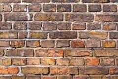 Backsteinmauer eines alten Hauses Lizenzfreie Stockfotografie