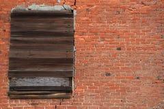 Backsteinmauer Einstiegsfenster Stockbilder