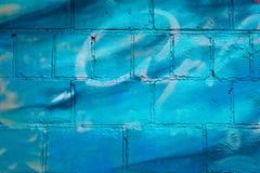 Backsteinmauer gemalt Lizenzfreie Stockfotografie