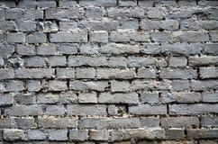 Backsteinmauer gemalt in der silbernen Farbe Lizenzfreie Stockfotografie
