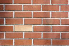 Backsteinmauer gemasert stockfotos