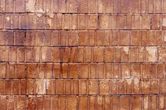 Backsteinmauer gemasert lizenzfreie stockfotos