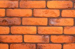 Backsteinmauer hergestellt von den roten Backsteinen Stockfoto