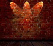 Backsteinmauer-Hintergrund Lizenzfreie Stockfotos