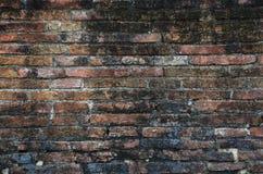 Backsteinmauer-Hintergrund des Tempels in Ayutthaya Thailand Stockbilder
