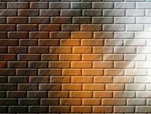 Backsteinmauer-Hintergrund oder Tapete Stockbild