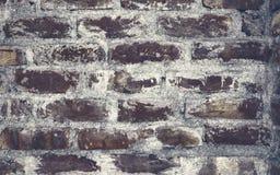 Backsteinmauer-Hintergrundbeschaffenheit der Weinlese Schwarzes farbige stockbilder