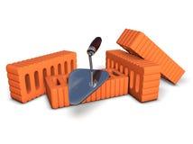 Backsteinmauer im Bau Lizenzfreies Stockfoto
