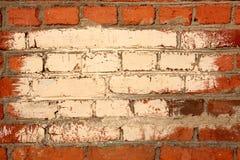 Backsteinmauer mit Farbenfeld Lizenzfreie Stockfotografie