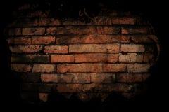Backsteinmauer mit schwarzer Farbe. Lizenzfreies Stockbild