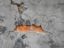 Backsteinmauer mit Sprüngen Lizenzfreie Stockfotografie