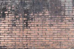 Backsteinmauer mit verwittert und befleckt masern Hintergrund lizenzfreie stockfotografie