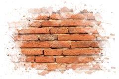 Backsteinmauer mit watar weißer Farbe. Lizenzfreie Stockfotos